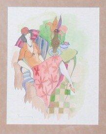 Original Itzchak Tarkay watercolor value $18,500