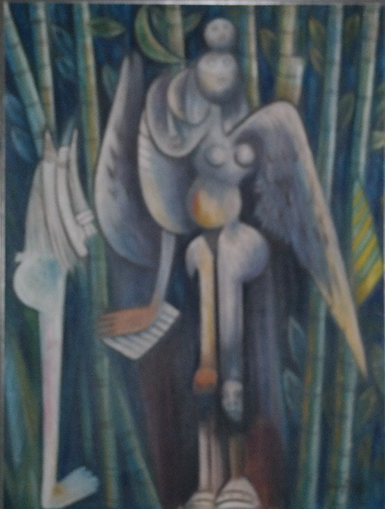 Oil on canvas Signed Wilfredo Lam