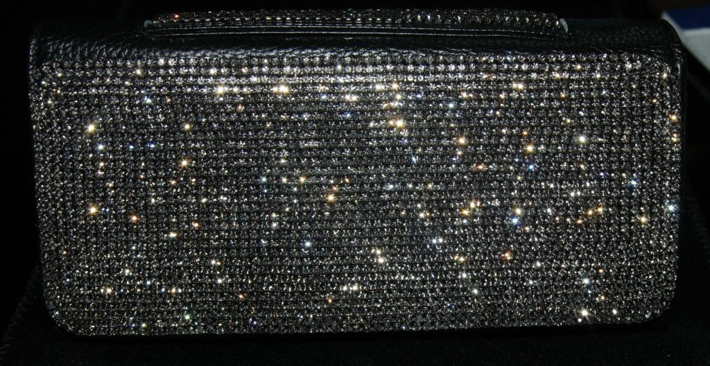 Clutch Wallet with strap and encrusted with Black