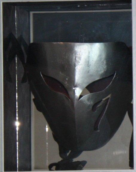 "Scren Used ""Vega"" mask from Street Fighter 1994 movie."
