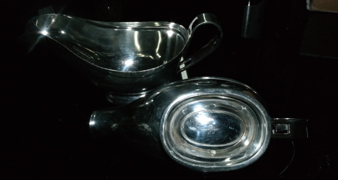 Set of two, Silver plated gravy  from Caesars Palace