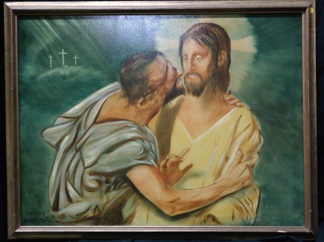 "Original William Verdult, ""The Kiss"". Oil on canvas,"