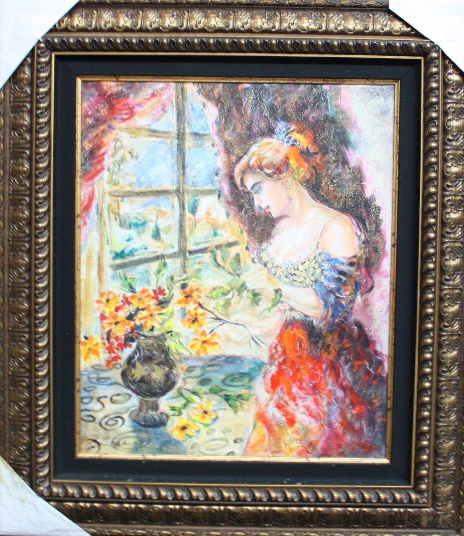 "Sevitt Francis Original oil on canvas,""Spring Flowers'"