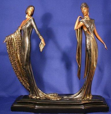 """Erte """"Duetto"""" Bronze, Edition 500"""