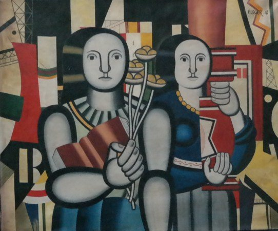 Oil on Canvas, inscribed Leger.