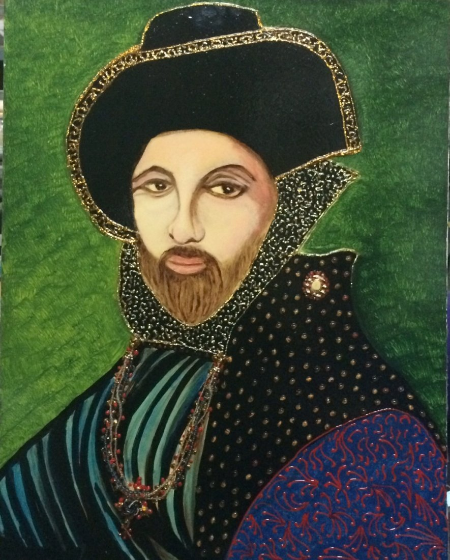 "Original William Verdult, ""King"". Oil on Canvas,"
