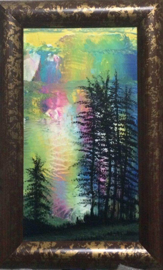 "Original William Verdult, ""Nuclear Skies"". Oil on"