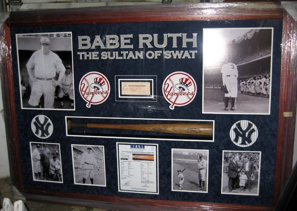 Game Used BatRite Babe Ruth Bat with personal check