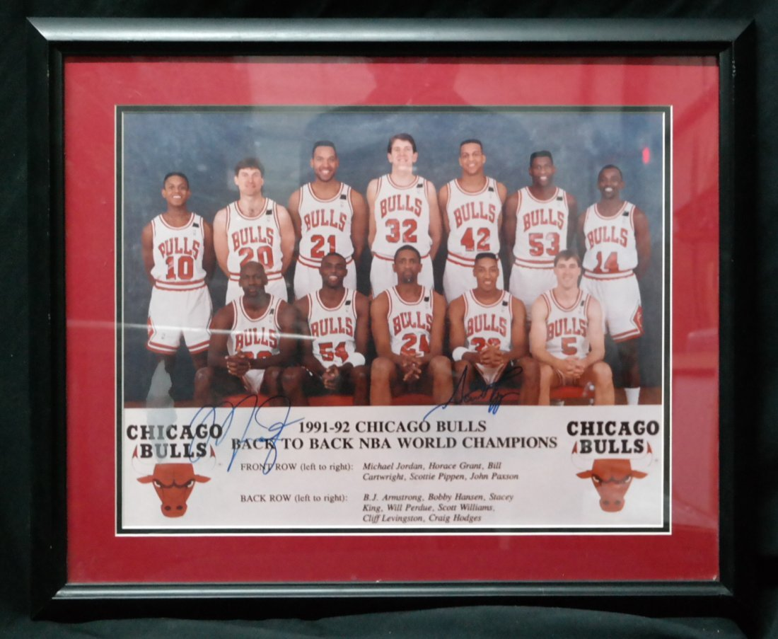 Chicago Bulls signed by Micheal Jordan and Scotty