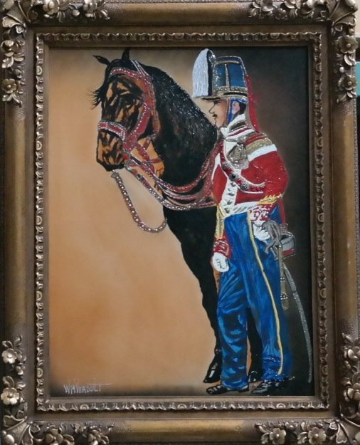 "Original William Verdult ""Soldier of Arms"", oil on"