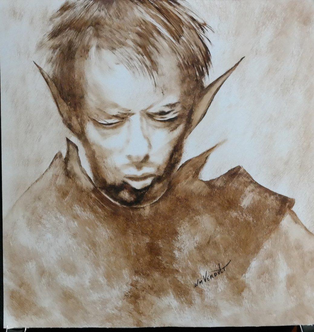 """Original William Verdult oil on paper """" Untitled"""""""