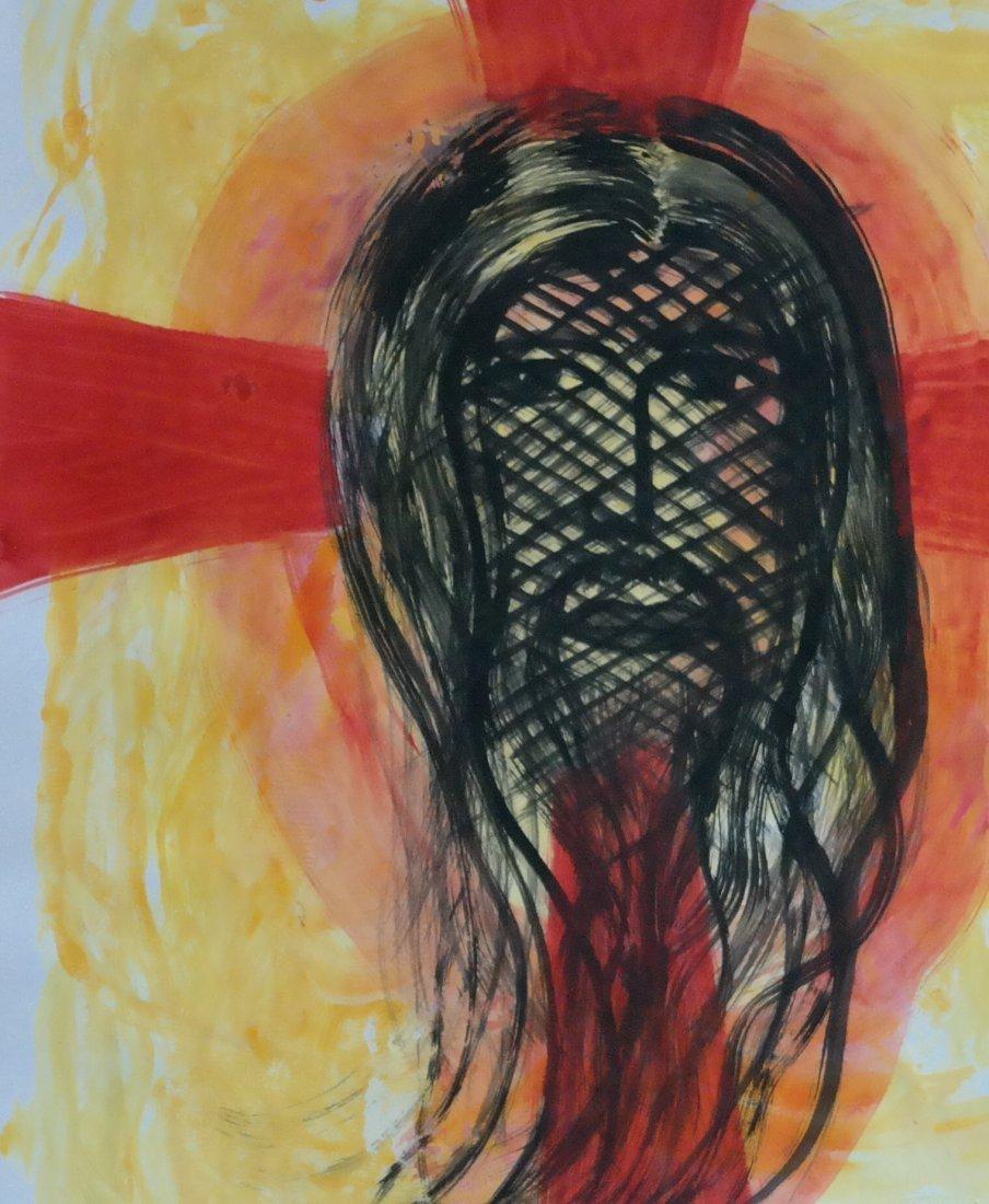 """Original William Verdult oil on paper,""""Cross Through""""."""