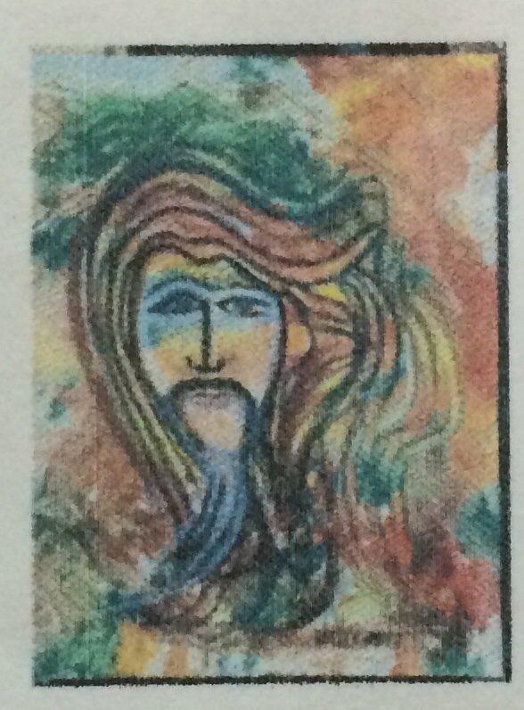 "Original William Verdult oil on paper, ""Wise Chaos"""
