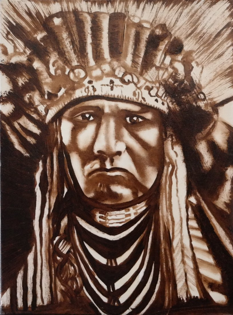 "Vintage Original William Verdult ""A Nez Perce"""