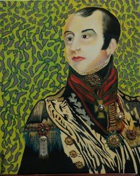 """Original William Verdult oil on canvas, """"Sir Edward"""