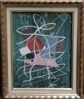 Original Charles Levier on cardboard. 1960's