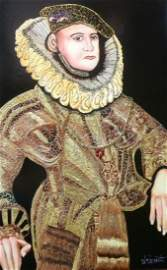 "Verdult Original oil masonite""King of Scots"""