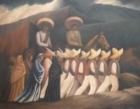 Oil on canvas, signed J. C. Orozco