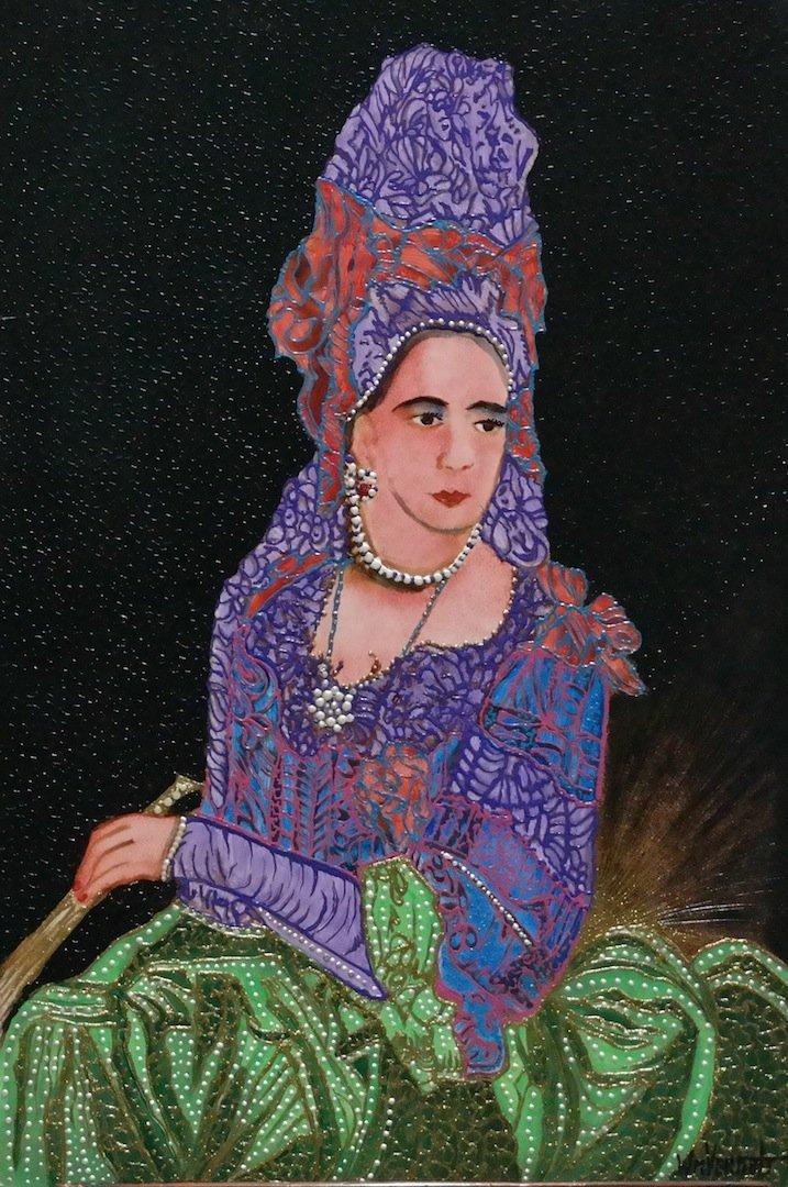 """Original Verdult """"Mary II"""" oil panel"""