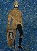 "Original Verdult ""King in Armour"" oil panel"