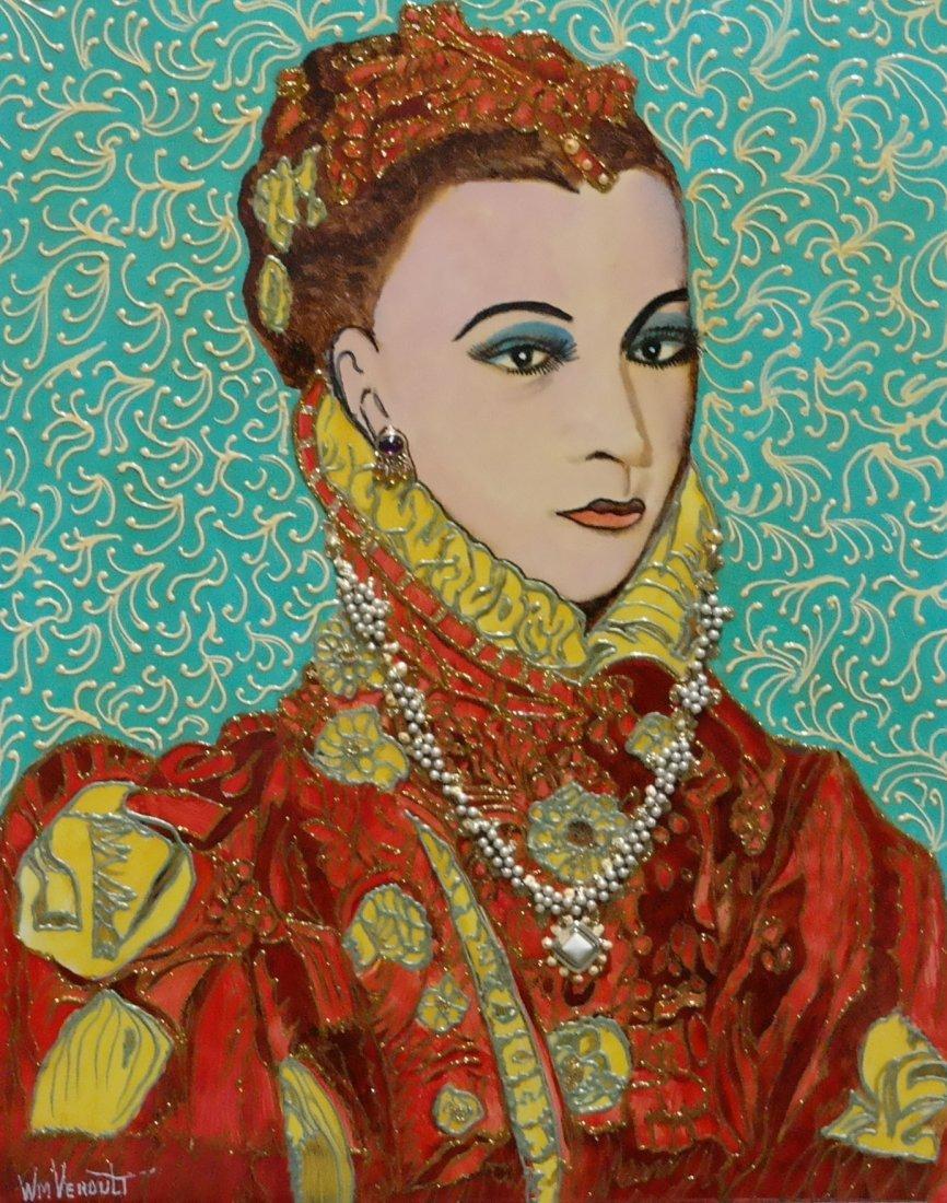 "Original Verdult ""Daughter of Duchess"" oil panel"