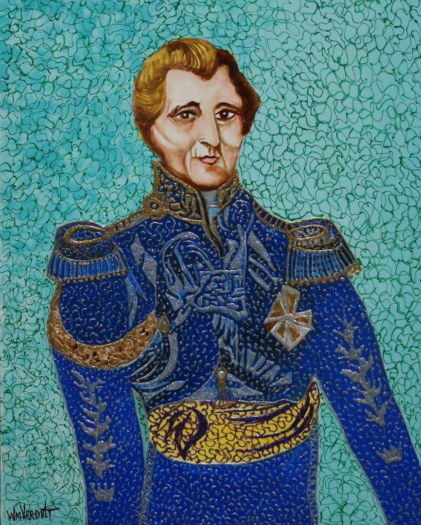 """Original Verdult """"Duke of Wellington"""" oil panel"""