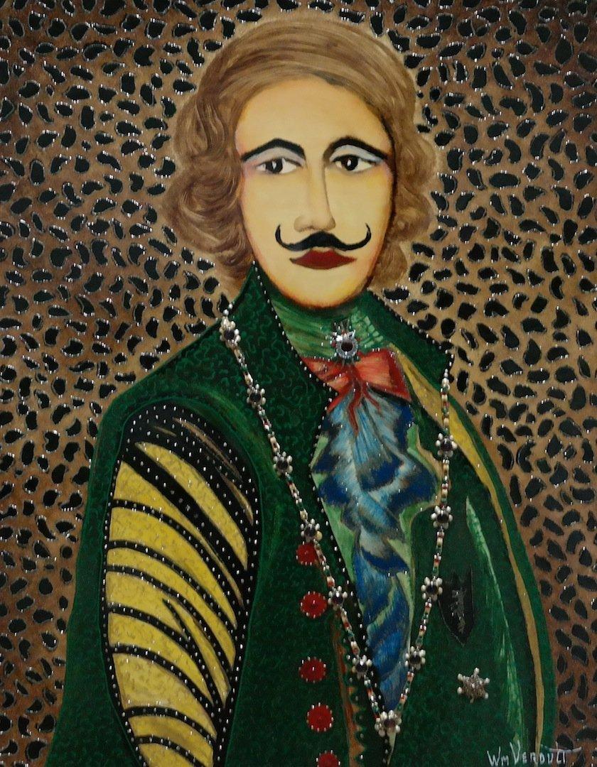 "Rare Original Verdult ""Count Levitsky"" oil panel"
