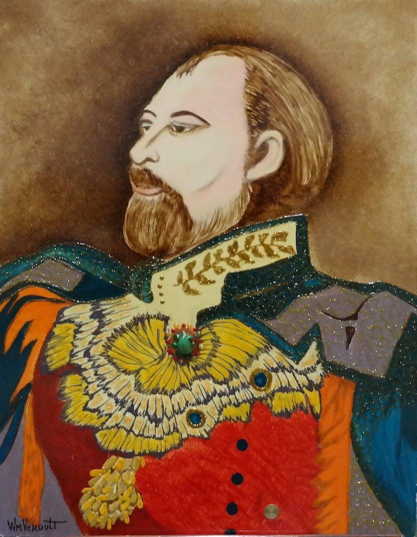 "Rare Original Verdult ""Edward VII"" oil panel"
