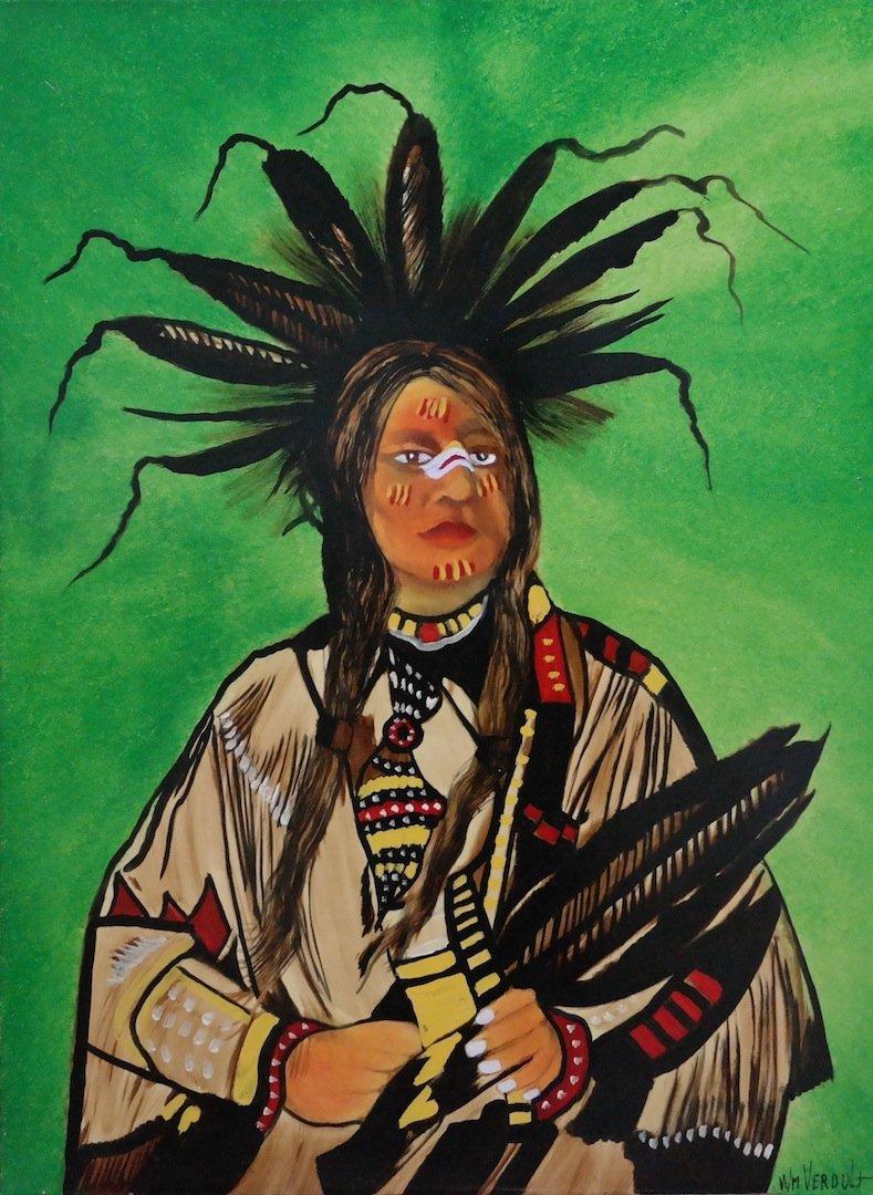 "Rare Original Verdult ""Eagles Wing"", oil canvas"