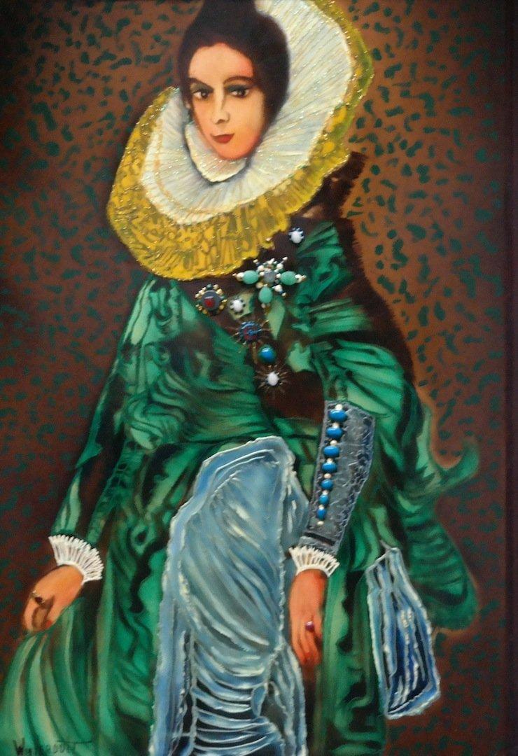 "Original Verdult ""The Queen""oil canvas"
