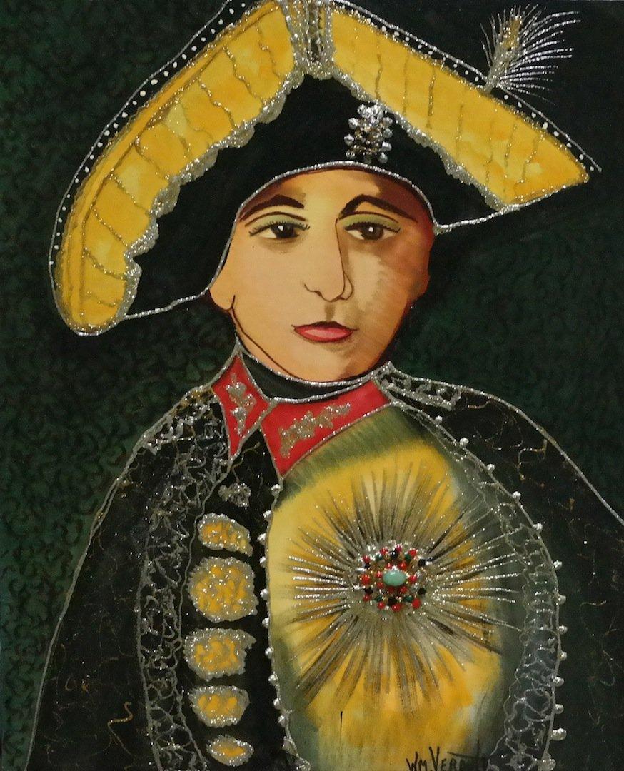 """Original Verdult """"Emperor Peter III""""oil canvas"""