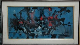 Original Charles Levier on canvas. 1960's