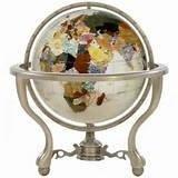 """13"""" Gemstone Globe Opal"""