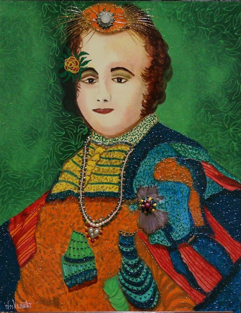 "Verdult Original oil panel ""Catherine II"""