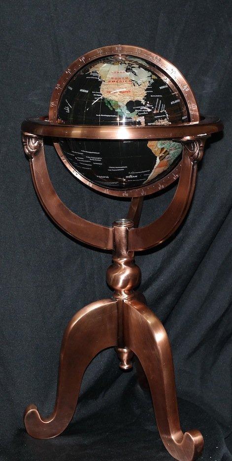 "9"" Gemstone Globe"
