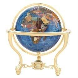 """13"""" Gemstone Globe Blue Opal"""