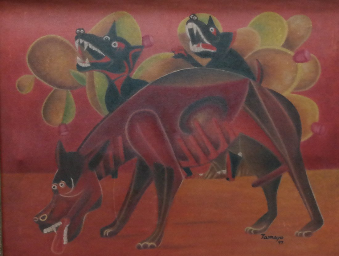 """Oil on canvas, signed """"Tamayo 47"""""""