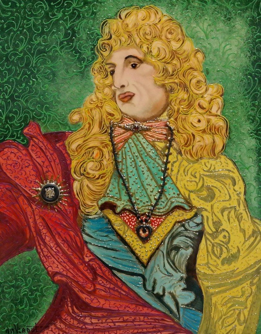 "Verdult Original oil panel ""Charles II"""