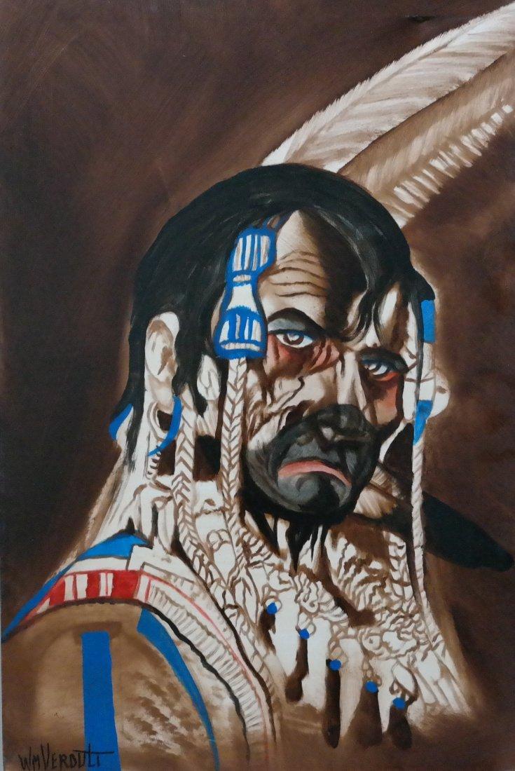 "Verdult Original oil panel ""War Paint"""""