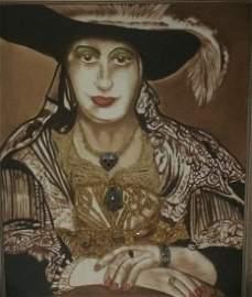 "Original Verdult ""European Royalty"", Oil canvas"