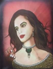 """Original William Verdult, """"Lisa"""",canvas"""