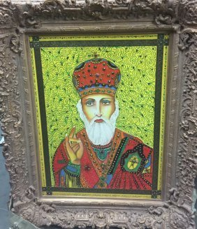"Original Verdult ""St. SF Nicolae"",oil canvas"