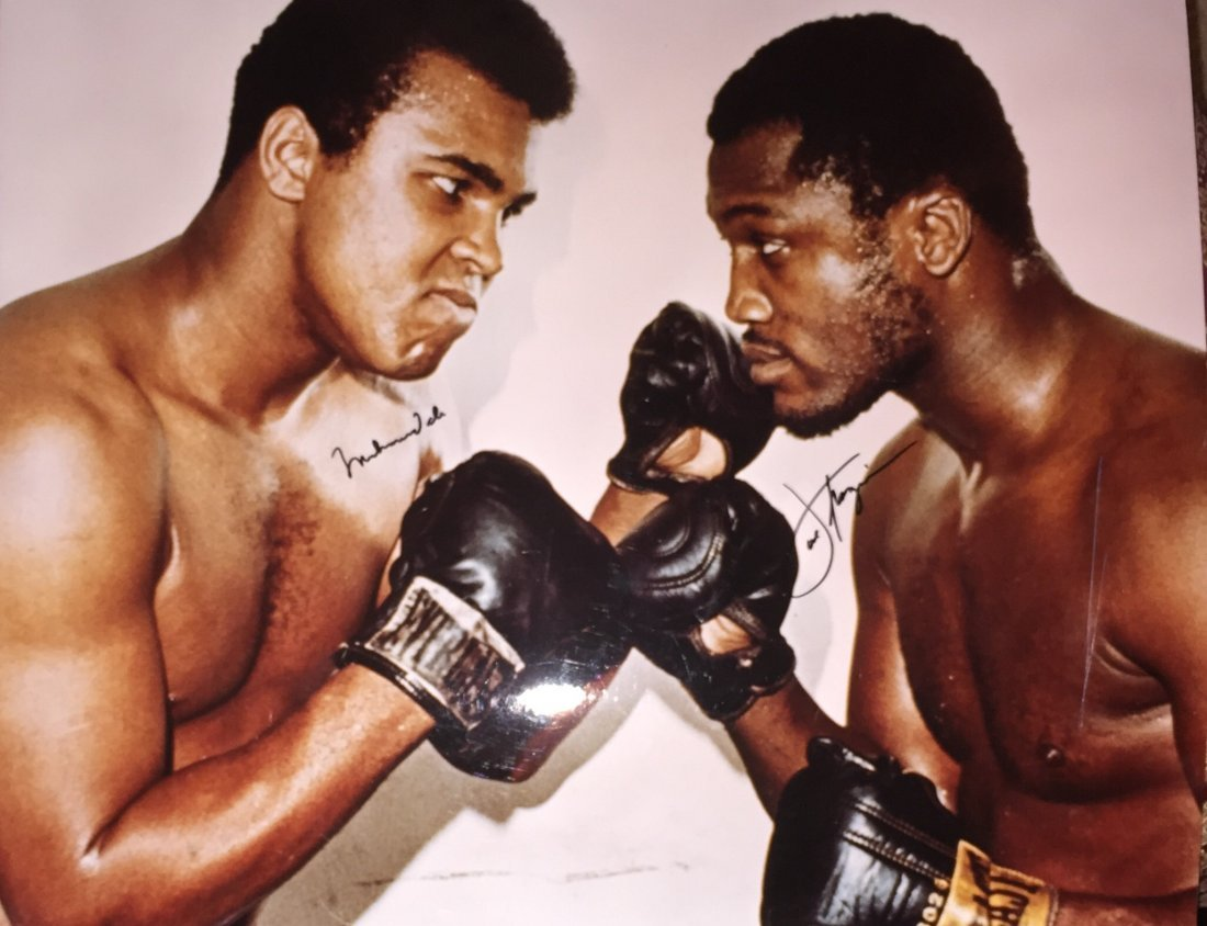 Ali and Frazier signed Photo