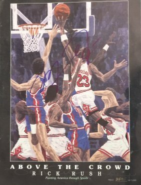 Michael Jordan rare litho signed