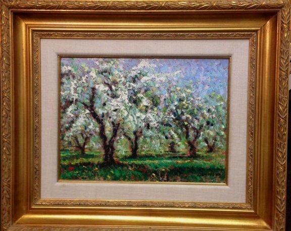"""Samir Sammoun """"Cherry Trees in Bloom"""""""