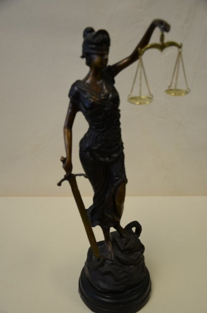 """A. Mayod """"Scales of Justice"""" bronze"""