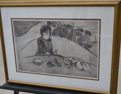 "Paul Gaugin & Armand Seguin ""Woman with Figs"""
