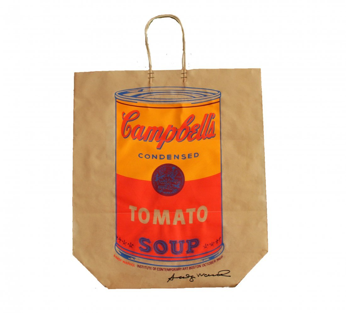 "Andy Warhol ""Campbell Soup"" Shopping Bag"