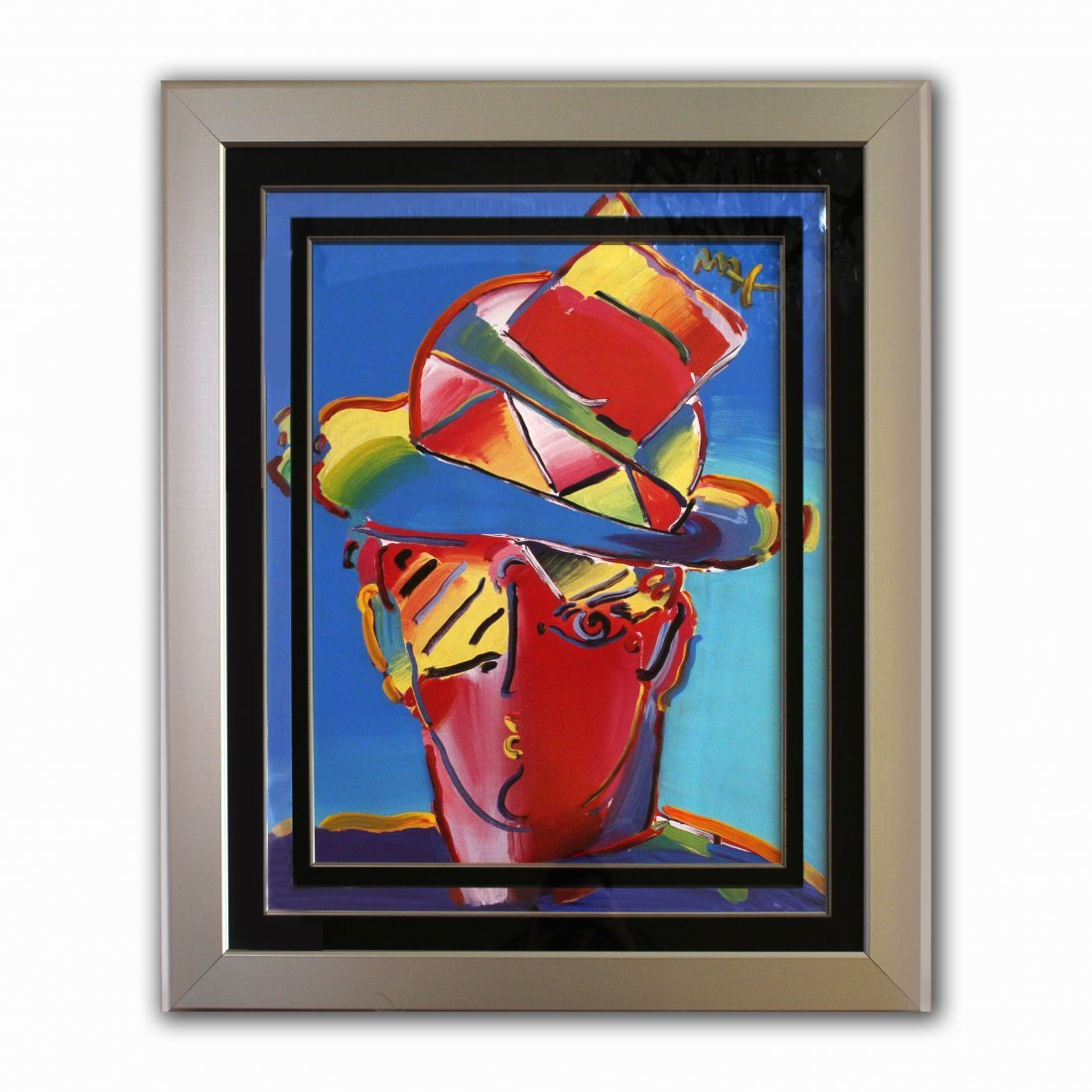"""Peter Max """"Man with Hat"""""""
