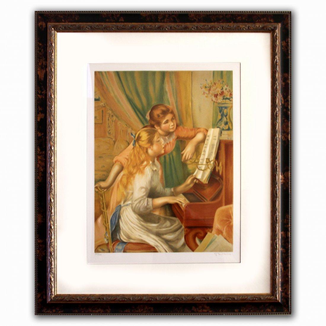 "Pierre Auguste Renoir ""Girls at Piano"""